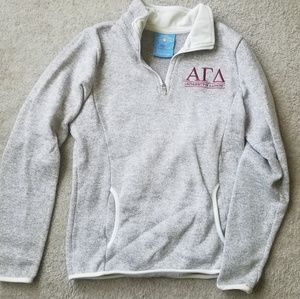 Alpha gamma delta Charles river fleese sweater
